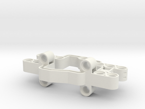 Axle Support Frame in White Natural Versatile Plastic
