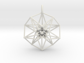 5dhypercube-42mm-1 in Antique Silver: Large