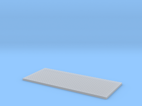 HO Utility Bed Diamond-Plate Far Aft Section in Smooth Fine Detail Plastic