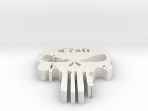 Punisher 1 in White Natural Versatile Plastic: Medium