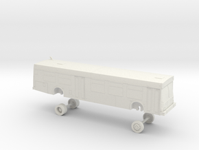 HO Scale Bus New Flyer D40LF CT Transit 100s in White Natural Versatile Plastic