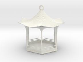Pagoda Birdfeeder  in White Natural Versatile Plastic