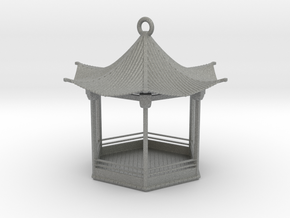 Pagoda Birdfeeder (downloadable) in Gray PA12