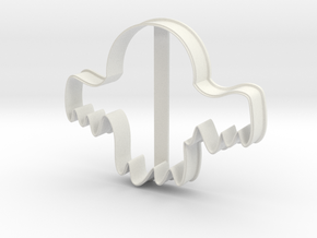 Ghost 2 cookie cutter for professional in White Natural Versatile Plastic