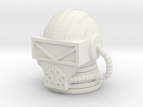 Force Commander Head in White Natural Versatile Plastic