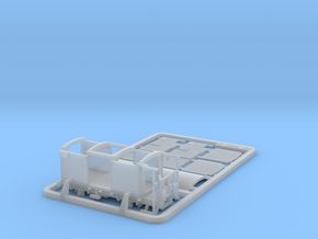 RhB K5201 Closed Freight Wagon in Smooth Fine Detail Plastic