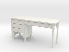 Desk 1 in White Natural Versatile Plastic