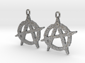 Anarchy Earrings in Natural Silver