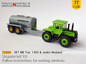 SET MB Trac 1300 & Joskin Modulo2 (TT 1:120) in Smooth Fine Detail Plastic