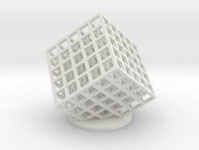 lattice cube 5x5x5 in White Natural Versatile Plastic