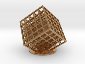 lattice cube 5x5x5 in Natural Bronze