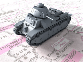 1/72 French Char D2 AMX4 SA35 Medium Tank in Smooth Fine Detail Plastic