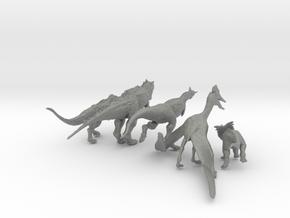 Mini Prehistoric Collection 4 in Gray Professional Plastic: Small