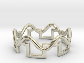 Waveforms Ring, Size 4.5 in 14k White Gold