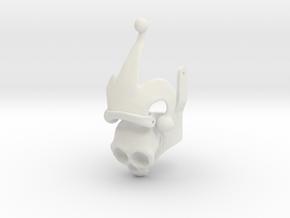 Harley Ring - Skull Half, Plastics in White Natural Versatile Plastic: 6.5 / 52.75