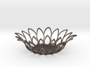 Tealight Holder in Polished Bronzed-Silver Steel