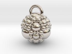 Fractal sphere pendant in Rhodium Plated Brass