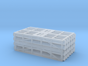 1 to 285 MLRS pod 4 pod stack in Smooth Fine Detail Plastic