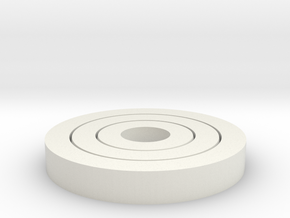 Nested Bearings in White Natural Versatile Plastic