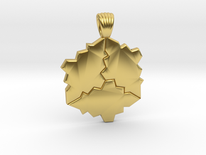 Tessellation [pendant] in Polished Brass