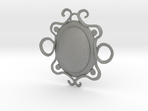 Oval stone pendant in Gray PA12