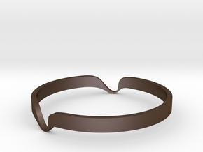 Bracelet  in Polished Bronze Steel