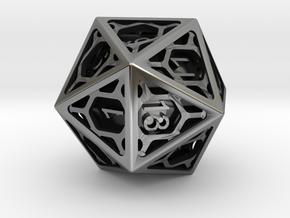 D20 Balanced - Cage die in Antique Silver