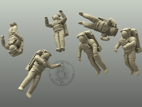 ISS EMU Astronaut Combo 1:50,72,100,144 in White Natural Versatile Plastic: 1:50