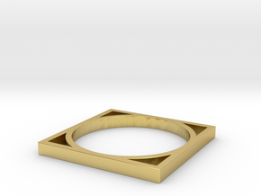 Edge 4 in Polished Brass: 8 / 56.75
