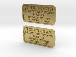 Alco-Brooks builder's plate in Natural Brass