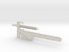 Captain Action -Silver Streak Launcher Arm in White Natural Versatile Plastic