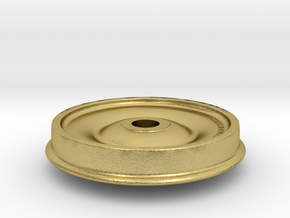 33 Inch Chilled Cast Iron Wheel 1:32 Scale in Natural Brass