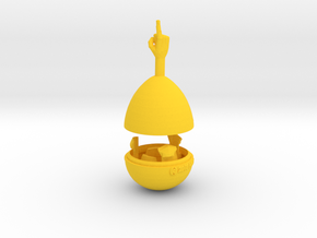 The Proclaim-O-Matic Wobbling Desk Toy in Yellow Processed Versatile Plastic