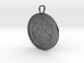 Agares Medallion in Polished Nickel Steel