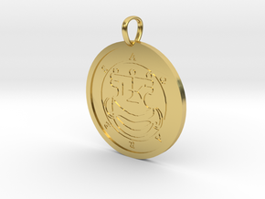 Agares Medallion in Polished Brass