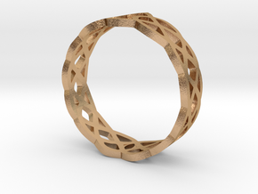 Celtic Braid Ring in Natural Bronze: 7 / 54