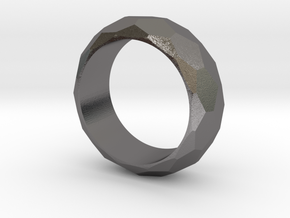 Faceted Men's Band in Polished Nickel Steel: 5.5 / 50.25