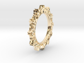 light Reflecting Ring - small in 14k Gold Plated Brass