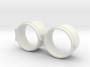 "GE44 Ton Headlight Casing 1.125""/foot scale  in White Natural Versatile Plastic"