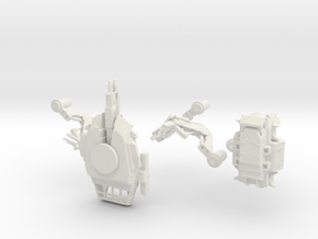 Firewalker Spider Tank Mech in parts in White Natural Versatile Plastic
