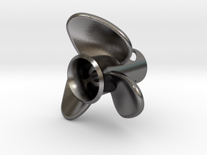 Propeller_side-mount in Polished Nickel Steel