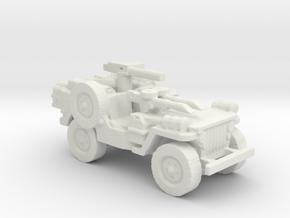 1/56 28mm LRDG SAS Jeep 1 in White Natural Versatile Plastic