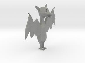 Cartoon Bat  in Gray PA12: Extra Small