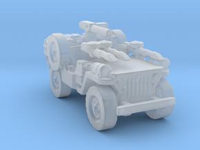 1/56 28mm LRDG SAS Jeep 2 in Smooth Fine Detail Plastic