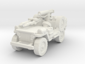 1/56 28mm LRDG SAS Jeep 5 in White Natural Versatile Plastic