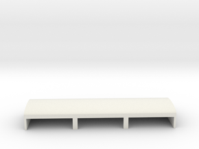 Gardermoen Large Hangers in White Natural Versatile Plastic: 1:700