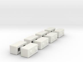 1/50th Precast Barrier Concrete Block in White Natural Versatile Plastic
