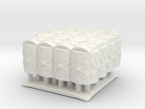 Roman Testudo  4x4  1/160 in White Natural Versatile Plastic
