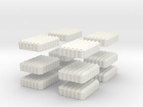 Roman Testudo   6x8 1/100 x 12 in White Natural Versatile Plastic