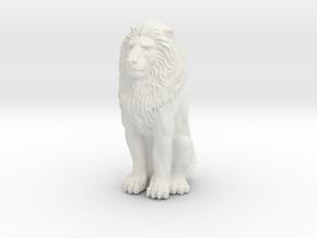 Lion - Seated 1:48 in White Premium Versatile Plastic